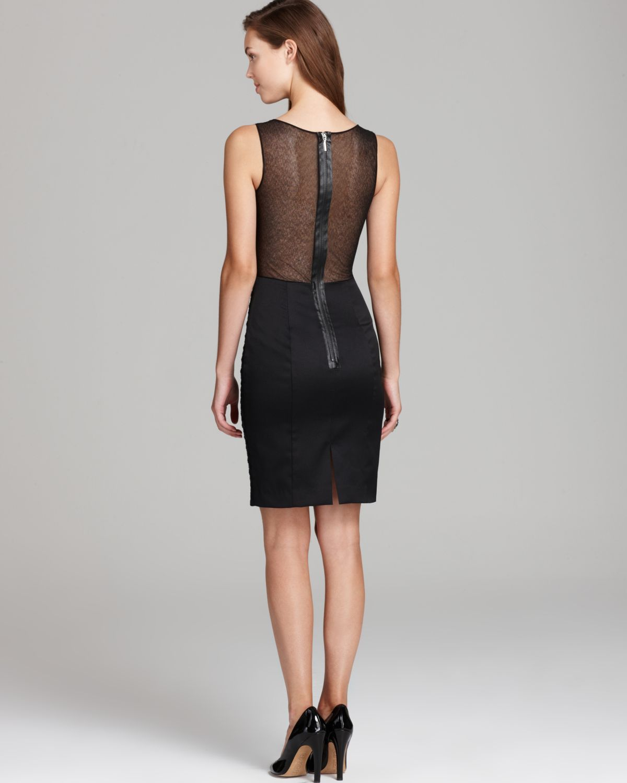 Miranda lace shoulder dress