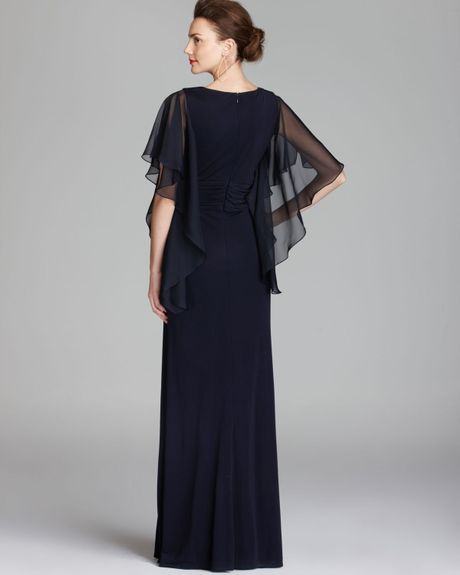 Navy David Meister Gown
