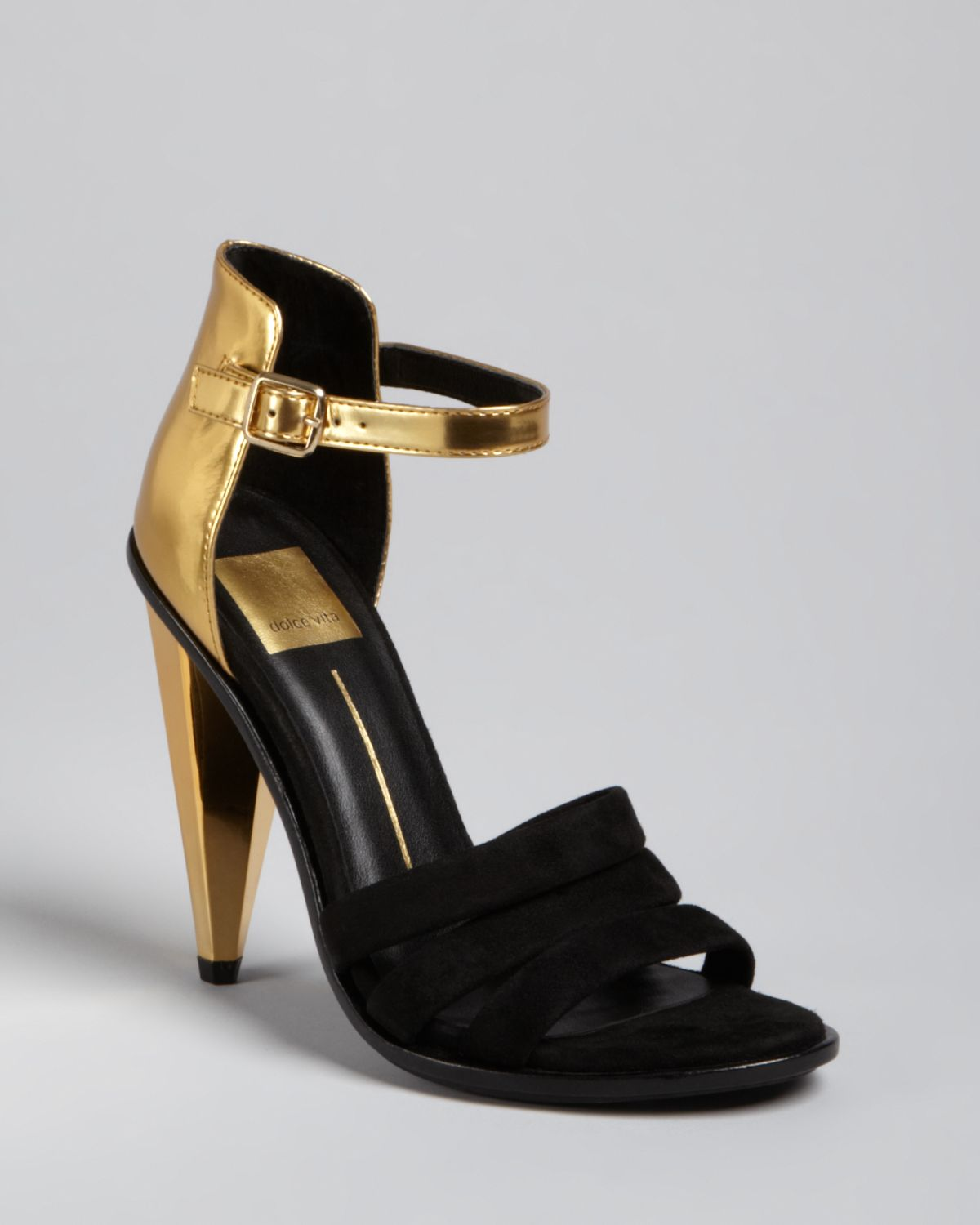 Lyst - Dolce vita Strappy Evening Sandals Neci High Heel in Metallic