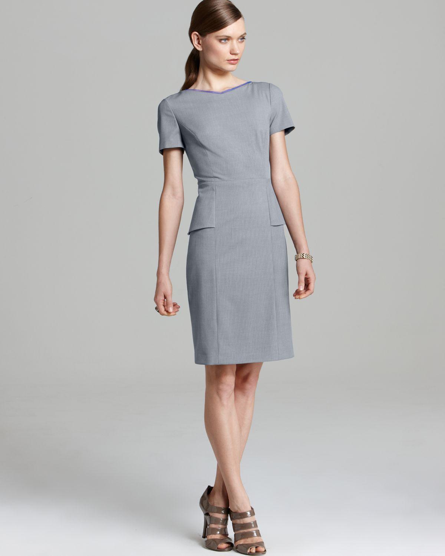744c43b193bb1 Elie Tahari Sybil Dress in Gray - Lyst