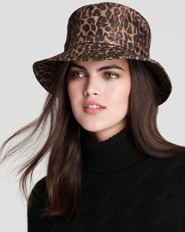 9c7675ee6bb21 Eric Javits Rain Bucket Hat in Brown - Lyst