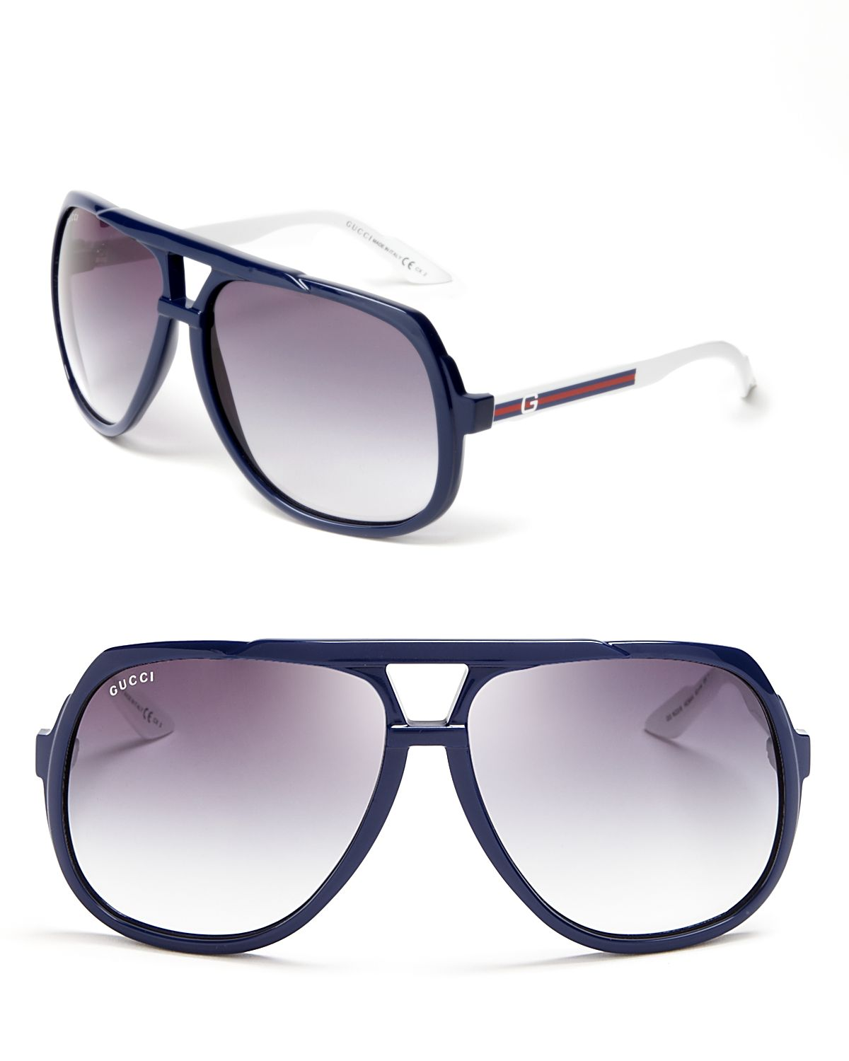 f228978eed Gucci Oversized Aviator Sunglasses in Blue for Men - Lyst