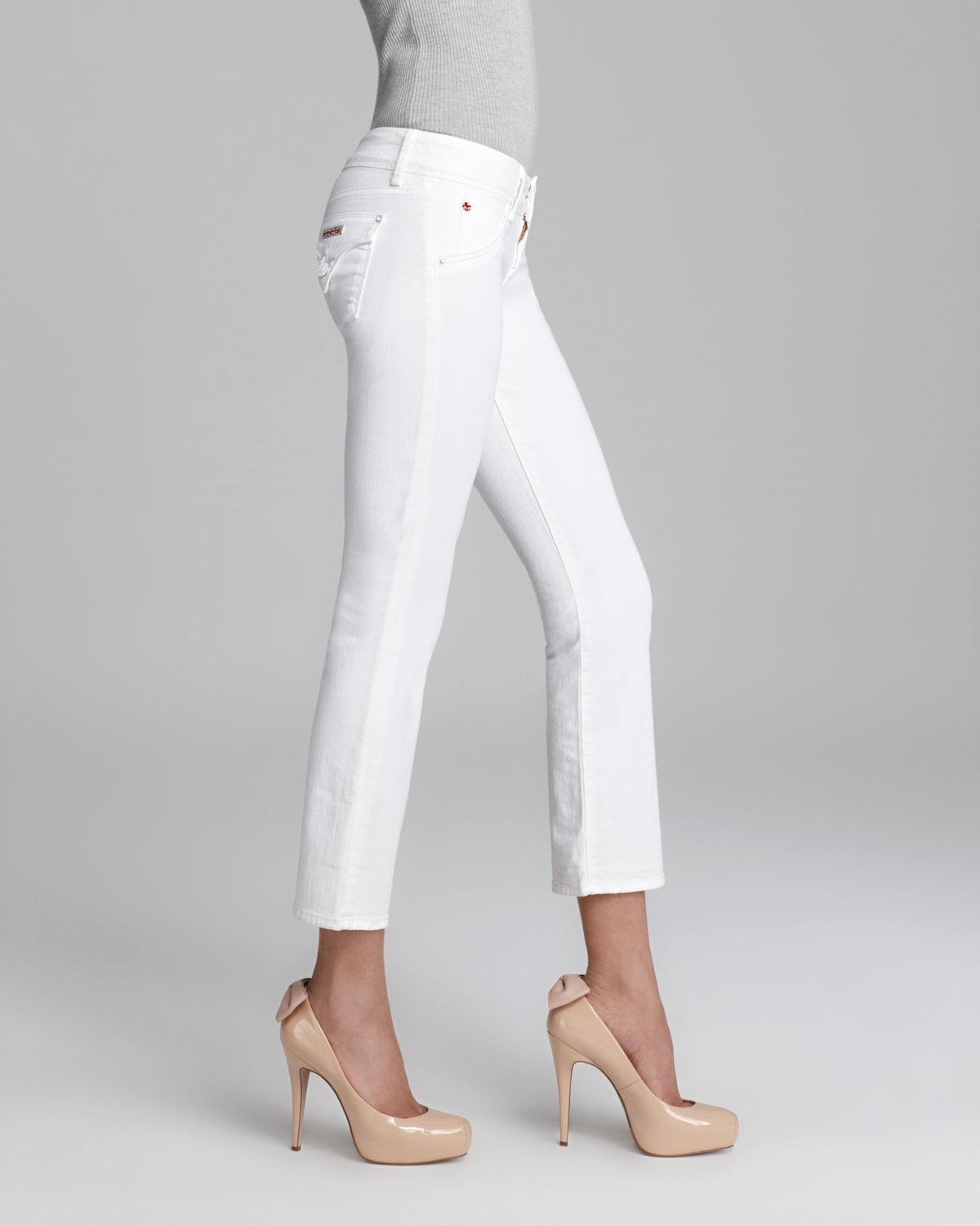 Hudson Jeans Jeans Beth Baby Crop In White Lyst