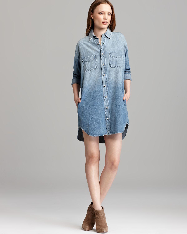 Brand Shirt Dress Marlow Denim in Blue (nimbus) | Lyst
