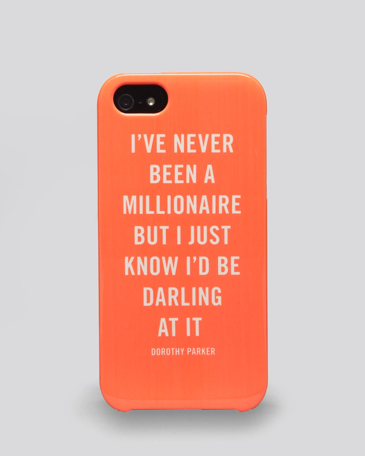 Kate Spade Quotes Kate Spade New York Iphone 5 Case Millionaire Quote In Orange  Lyst