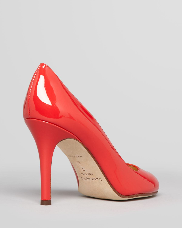 5463a506067d Lyst - Kate Spade Pumps Karolina High Heel in Red