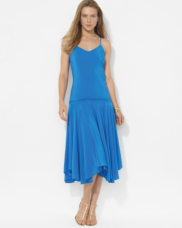 Blue Silk Dress | My Dress Tip