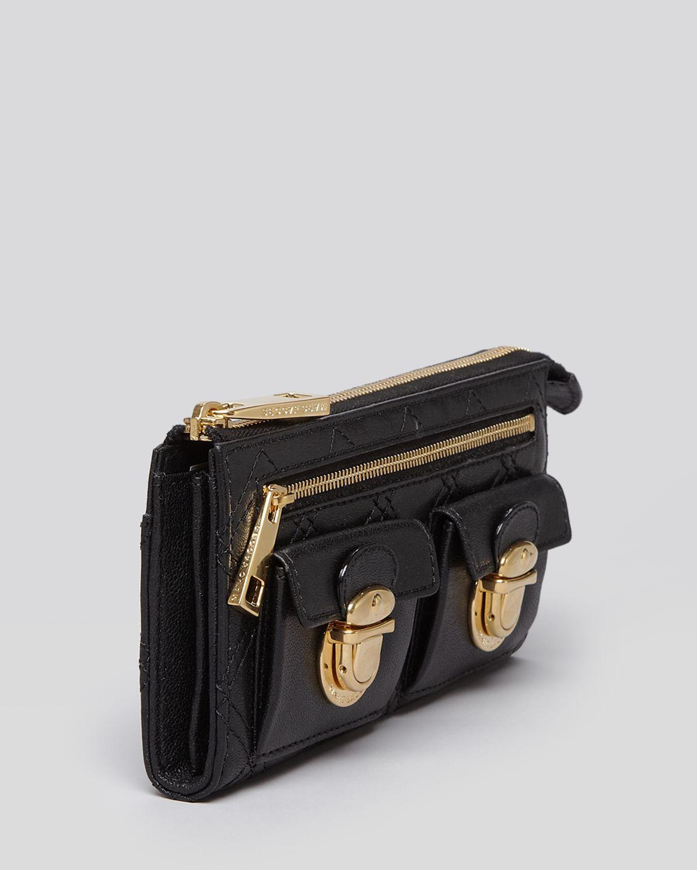 Marc jacobs Quilted Zip Clutch Wallet in Black   Lyst : marc jacobs quilted wallet - Adamdwight.com