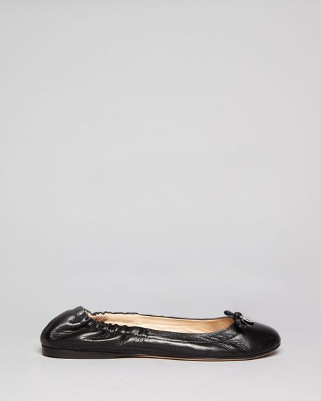 Max Mara Quilted Leather Flats In Black Lyst
