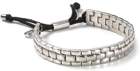 Michael Kors Watch Band Bracelet In Silver Silver Black