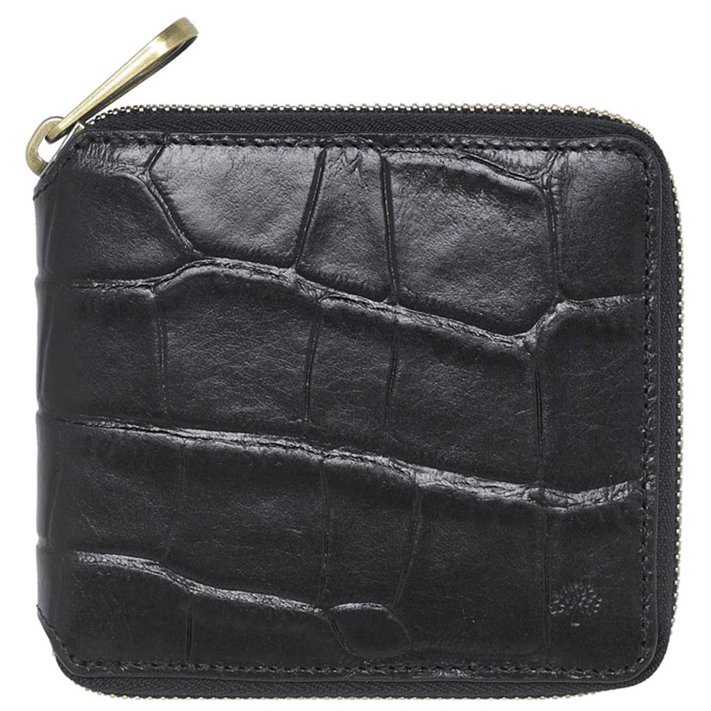 deaa8a282ab9 ... where to buy lyst mulberry mens zip around wallet in black for men  5d984 b3970