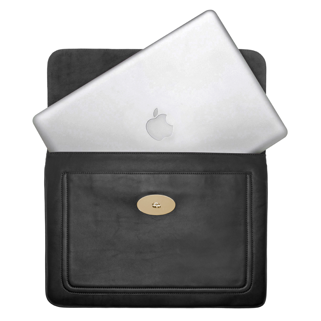 b6d4eec24aa8 ... cheap lyst mulberry bayswater laptop sleeve in black af9e3 f875b