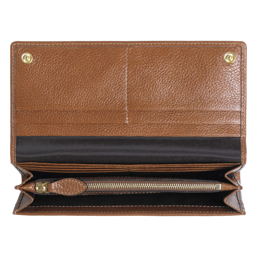 4374e7dec2 Lyst Mulberry Daria Continental Wallet In Brown. Genuine Mulberry Daria  Continental Purse Dark Grey