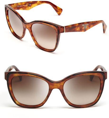 Prada Fashion Cat Eye Sunglasses in Brown  havana Prada Cat Eye Sunglasses 2013
