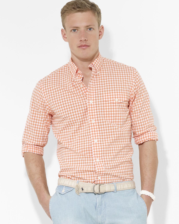 Orange And White Button Down Shirt | Artee Shirt