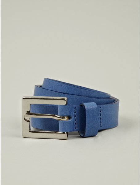 richard nicoll mens blue leather belt in blue for lyst