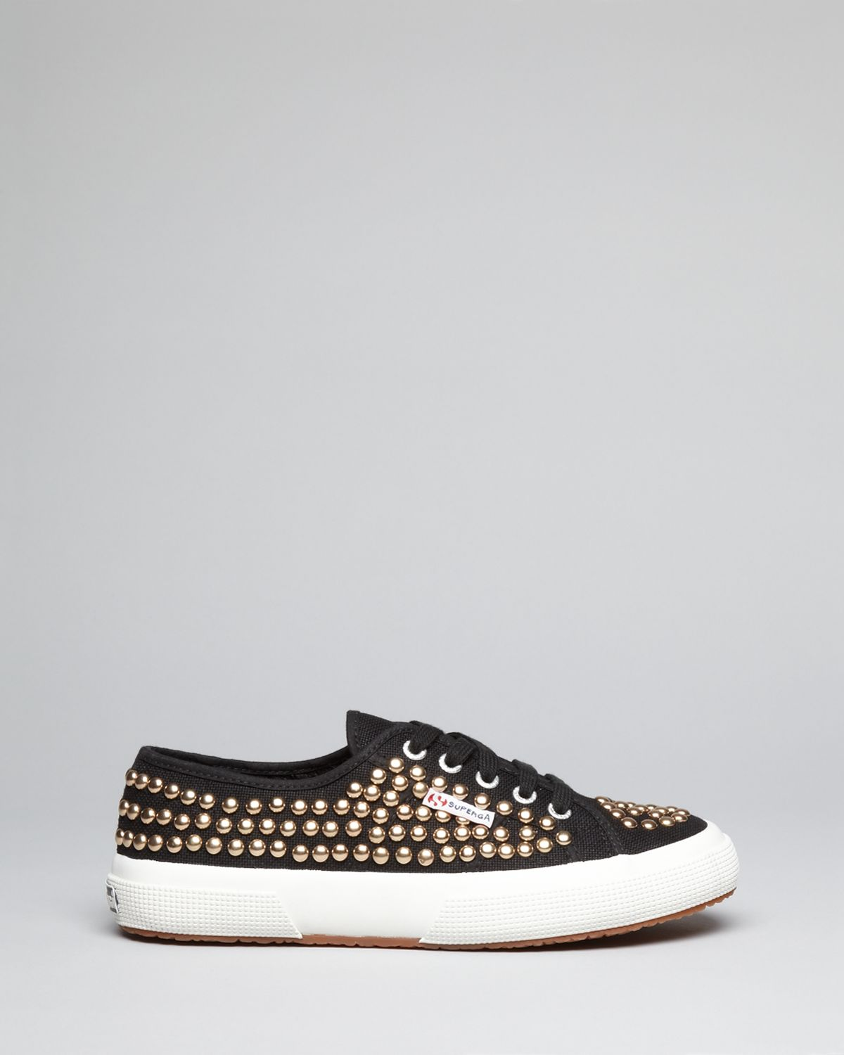 Superga Studded Lace Metallic Up Canvas In Sneakers Lyst CsQdthr