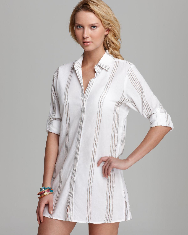 bd12cf871d White Shirt Dress Beach Cover Up