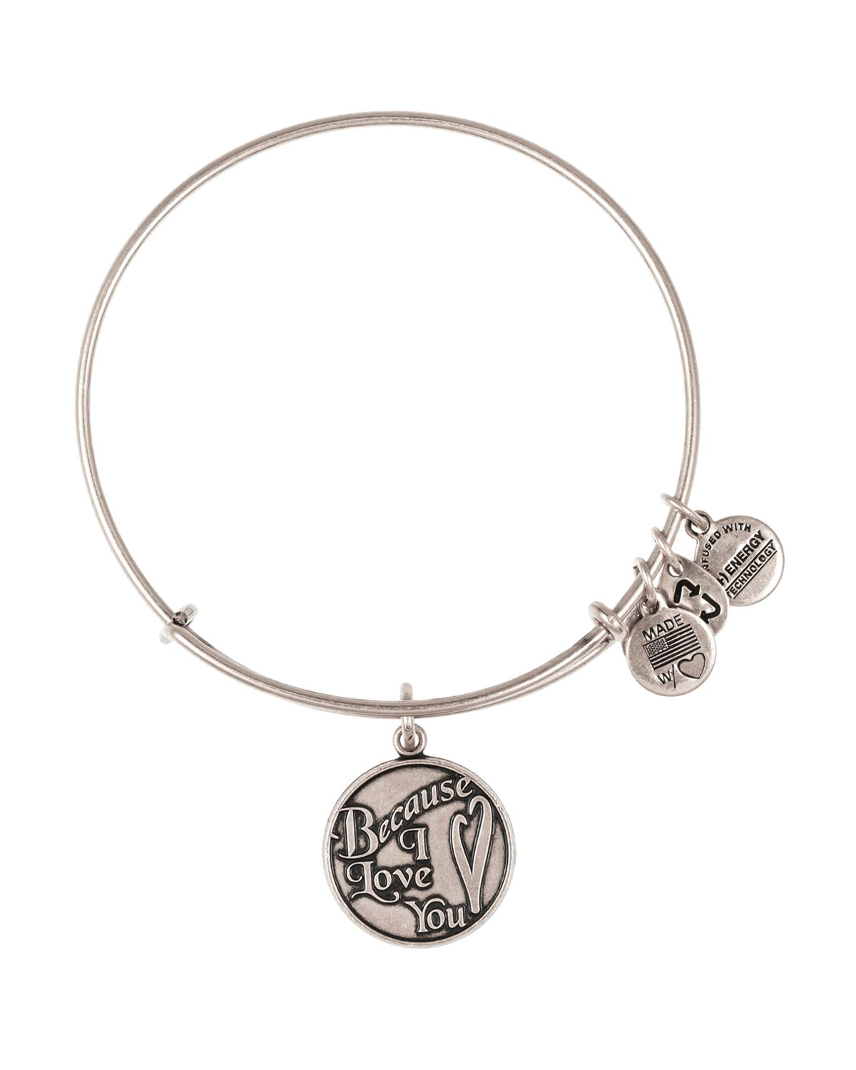 Alex And Ani Charm Bracelets: Alex And Ani Because I Love You Expandable Wire Bangle In