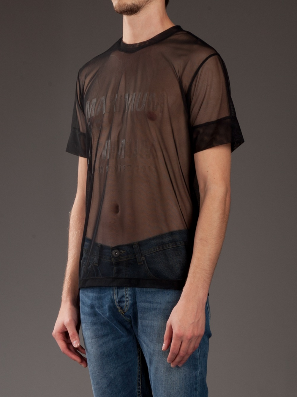 Blaak Printed Mesh T Shirt In Black For Men Lyst