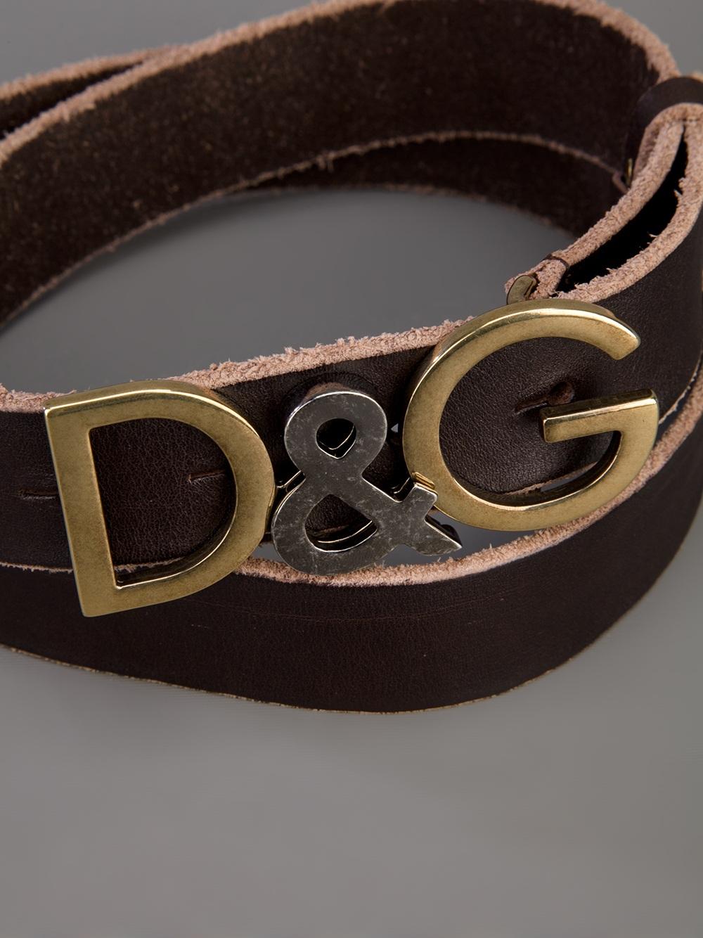 88d5b7c54c ... wholesale lyst dolce gabbana logo belt in brown for men 3463c 043b9