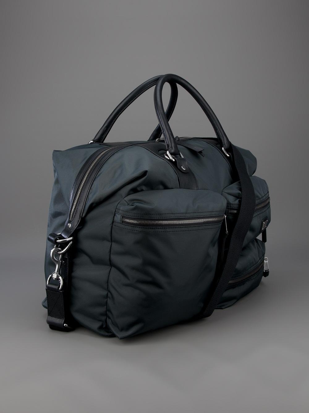 8d56573585 Lyst - Dolce   Gabbana Pocketed Travel Bag in Gray for Men