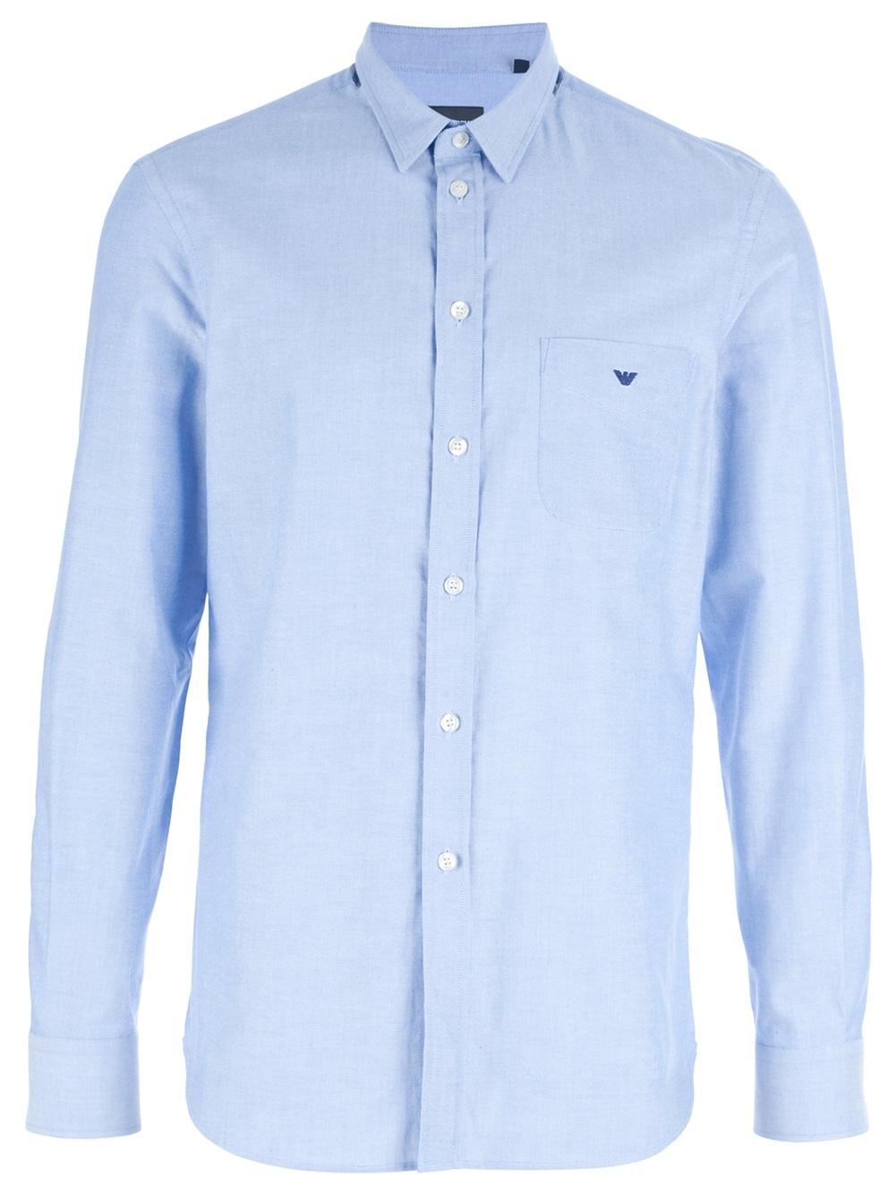 29806bbc61 Emporio Armani Blue Logo Shirt for men