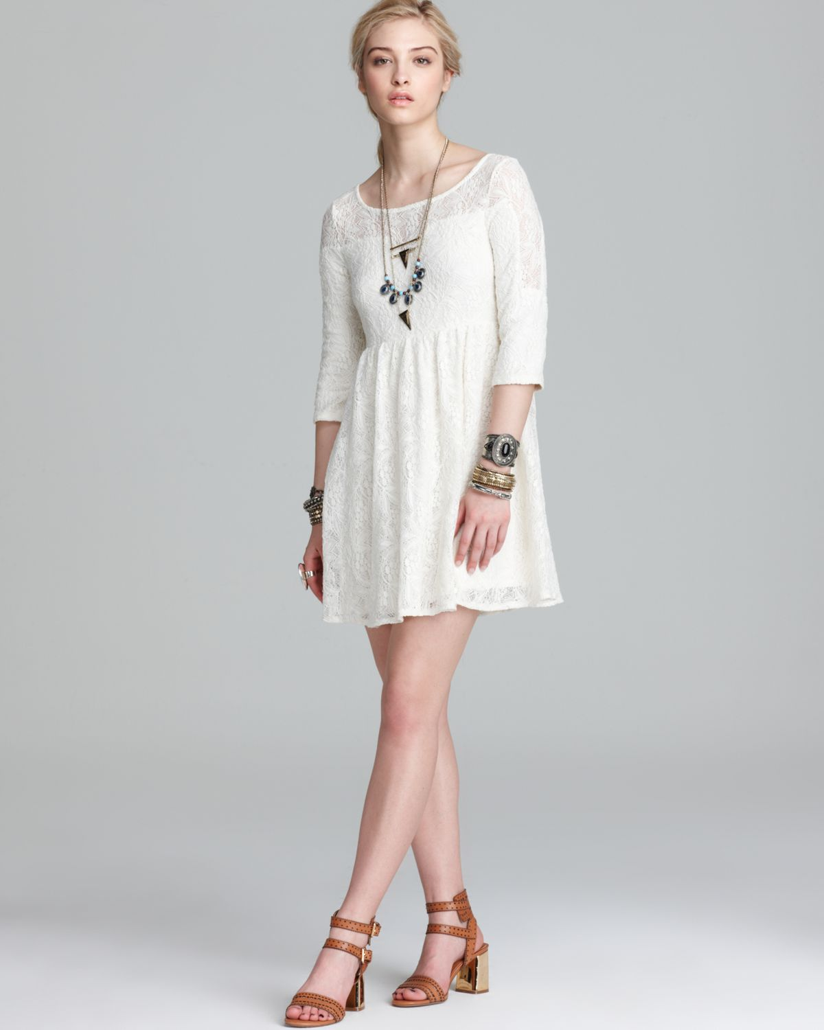 Free people lace dress cream