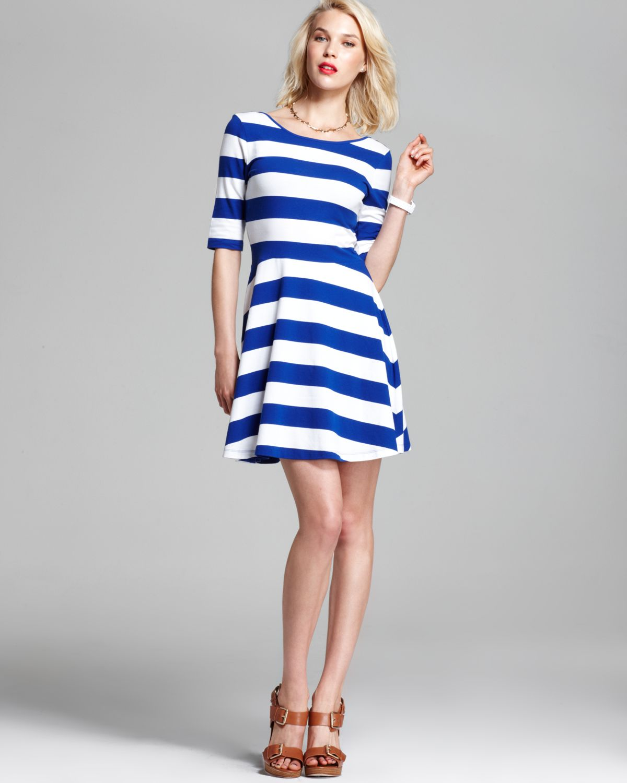 White or blue dress