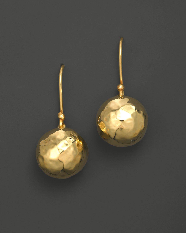 18k Gold Gl Mini Hammered Ball