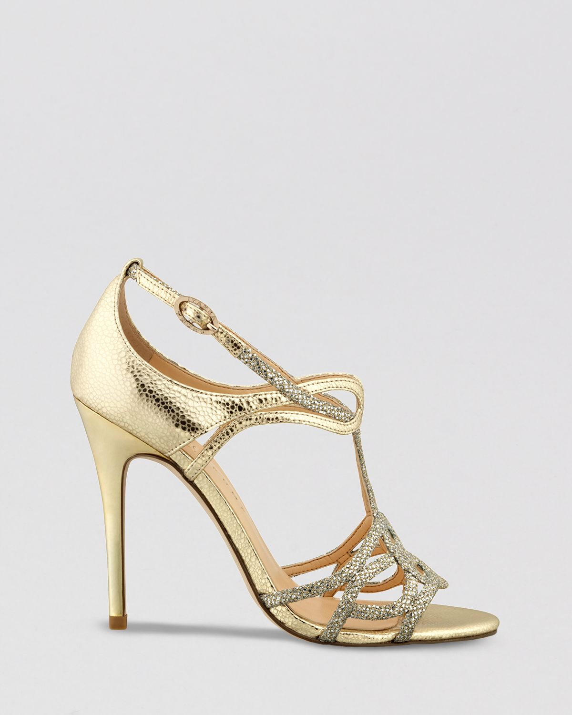 Ivanka trump Evening Sandals Herly Shiny Strappy High Heel in ...