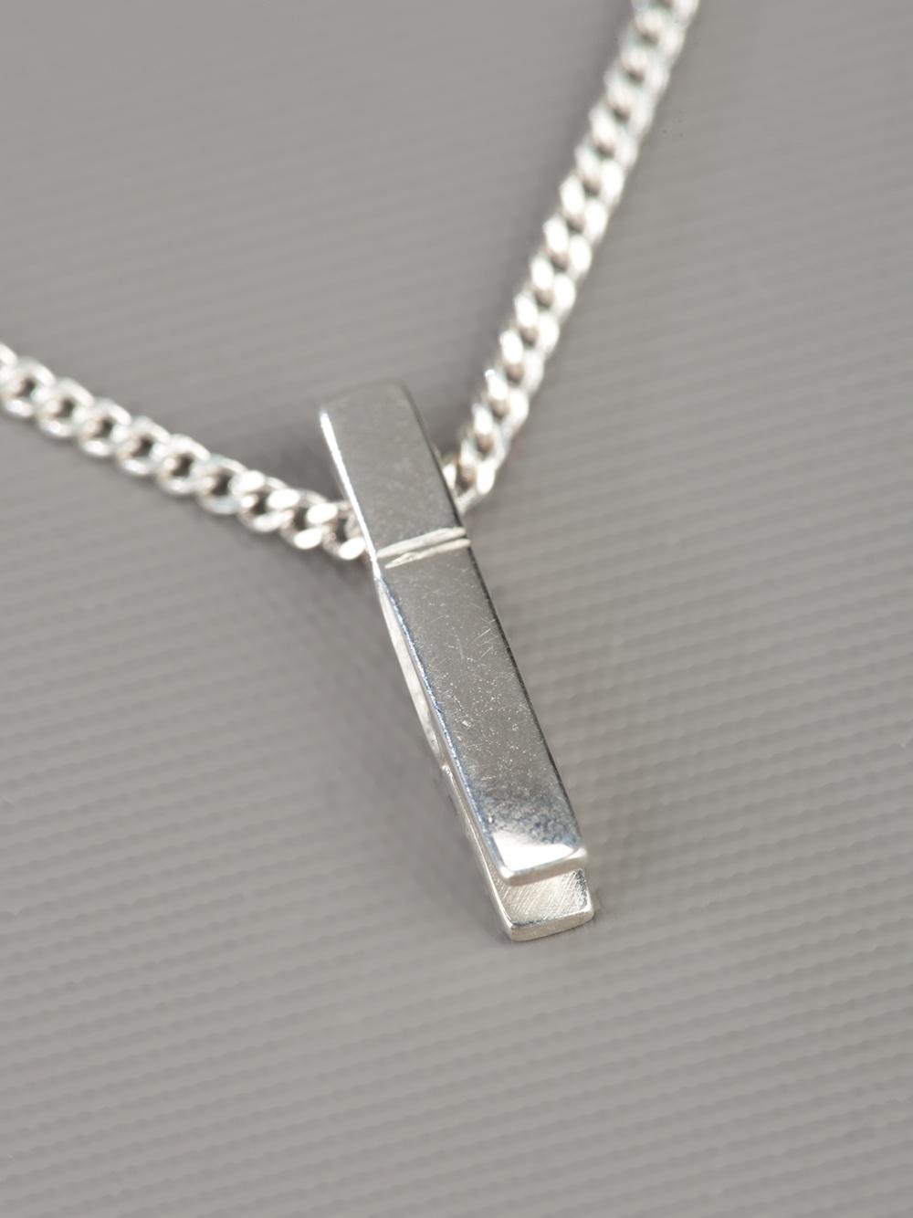 Karen Walker Peg Necklace In Silver Metallic Lyst