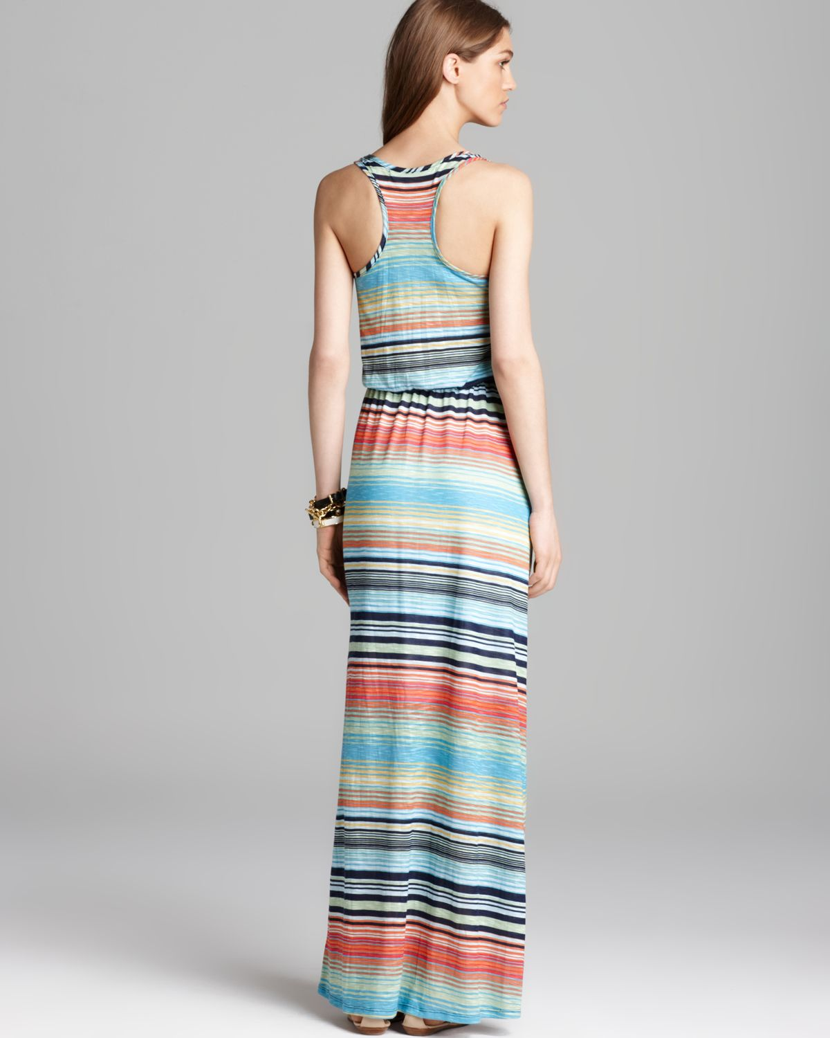 Michael stars Maxi Dress Stripe Racerback | Lyst