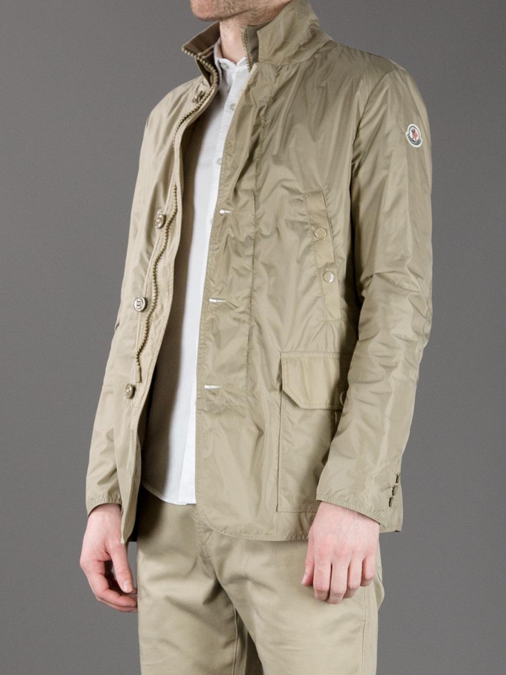 mens beige moncler coat