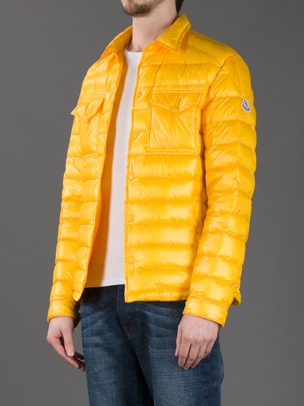 Moncler Yellow Gregoire Padded Jacket for men