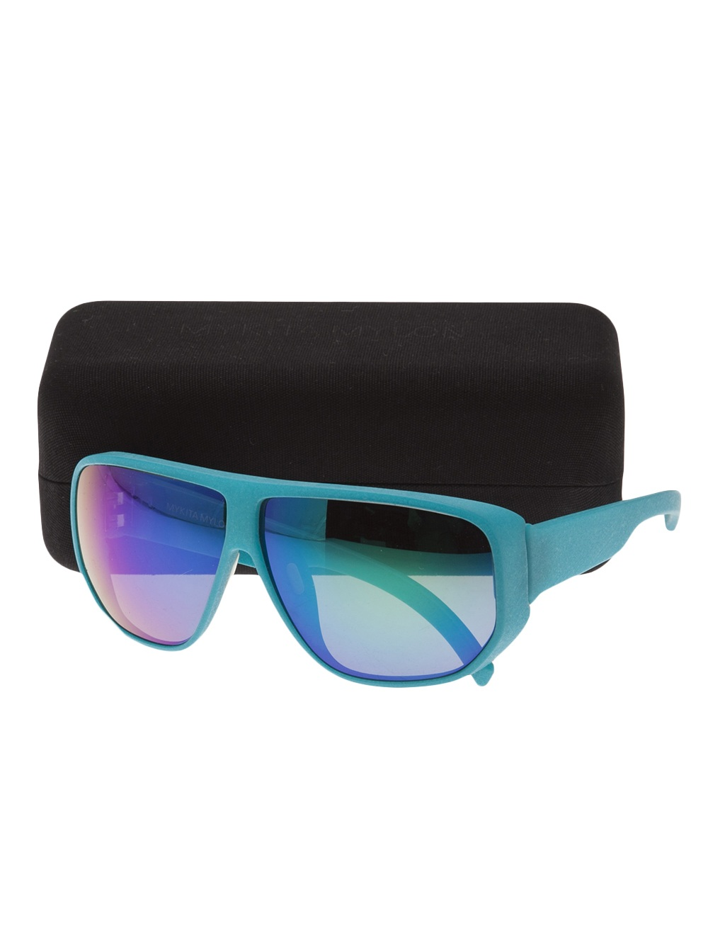 Mykita Lark Sunglasses in Green (Blue)