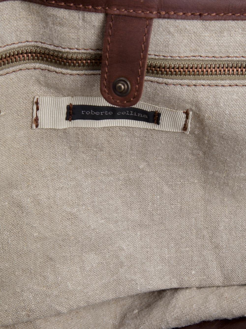 Roberto Collina Tote Bag in Natural for Men
