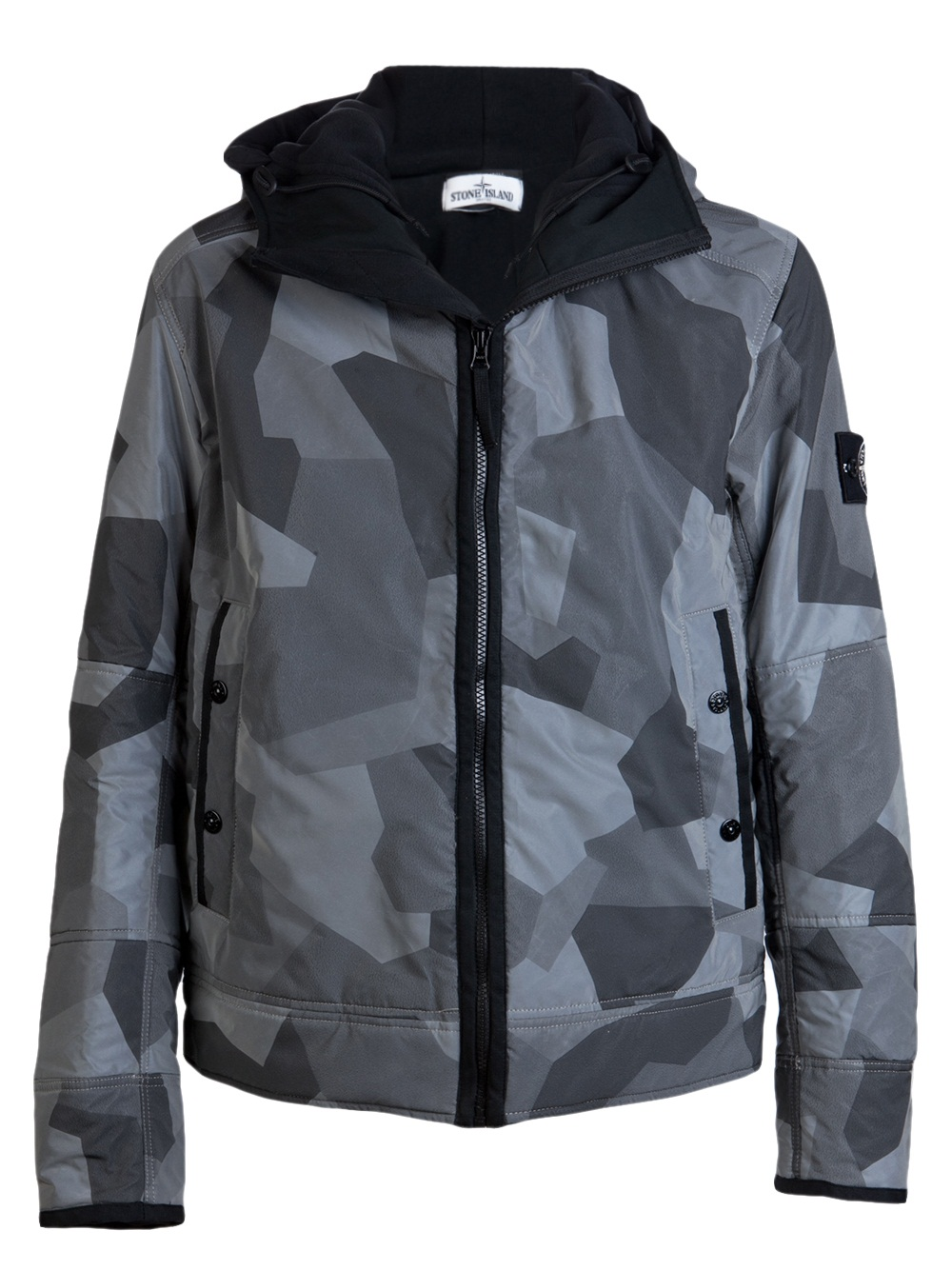 Stone Island Camo Reflective Jacket In Gray For Men Lyst