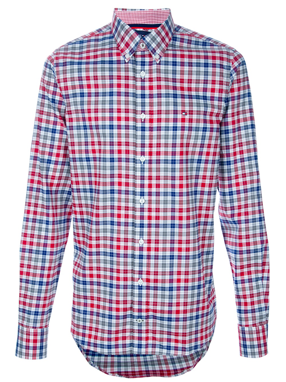 Lyst Tommy Hilfiger Checked Shirt In Blue For Men