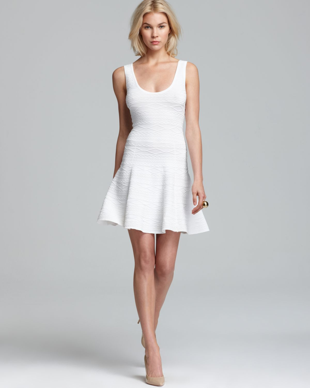 1490d9c471 Torn By Ronny Kobo Quotation Dress Luciana Lasso Stripe in White - Lyst