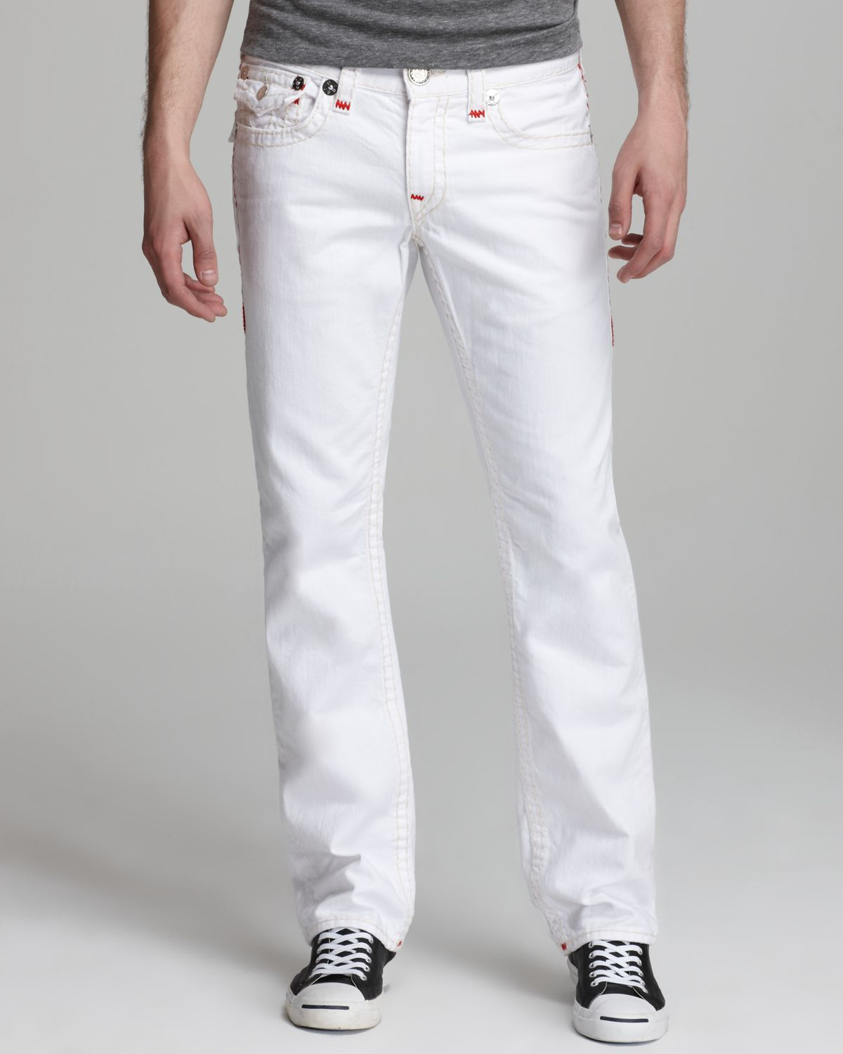 6930544aadb Lyst - True Religion Jeans Ricky Super T Straight Fit in Optic White ...