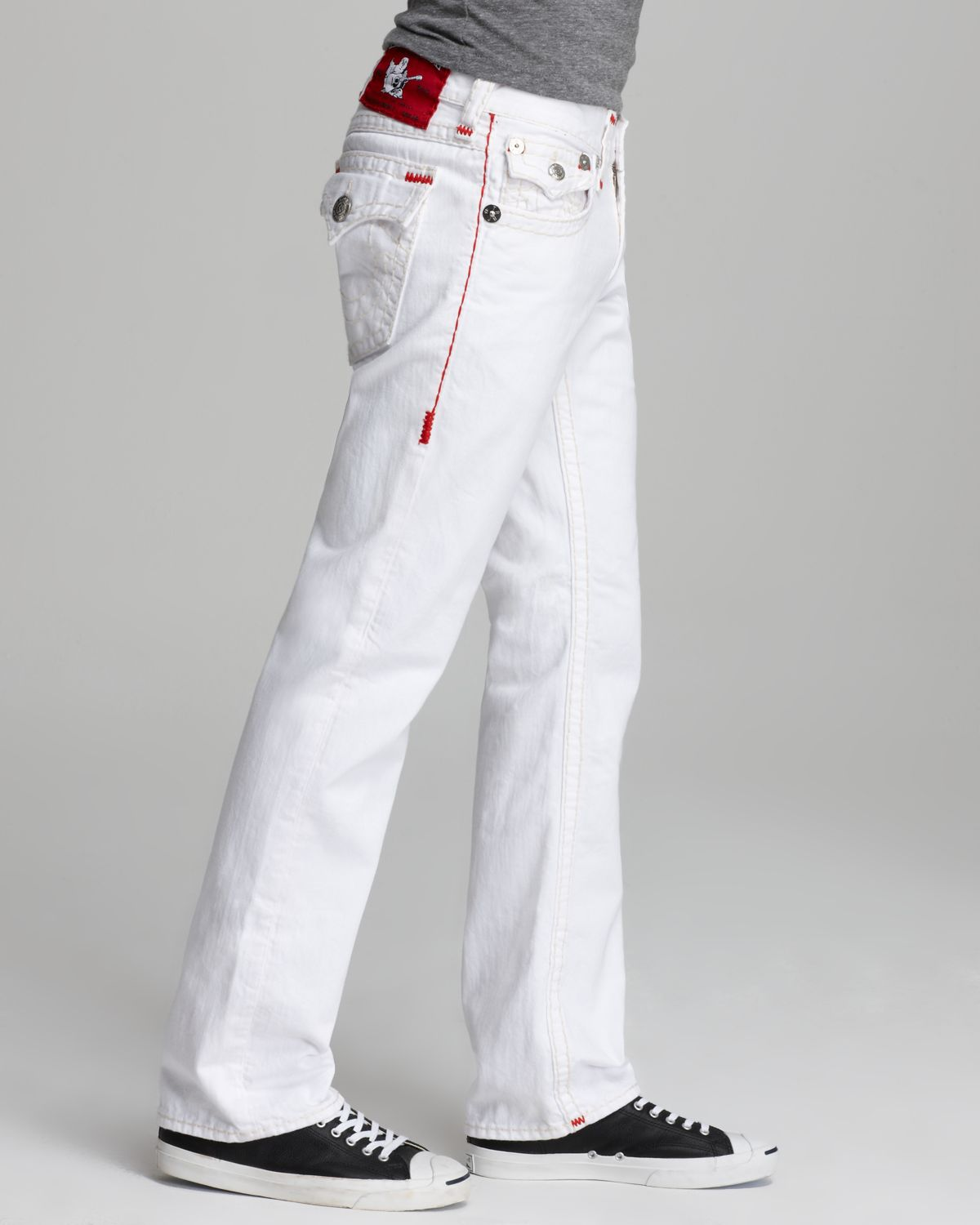 True Religion Jeans Ricky Super T Straight Fit in Optic White for Men