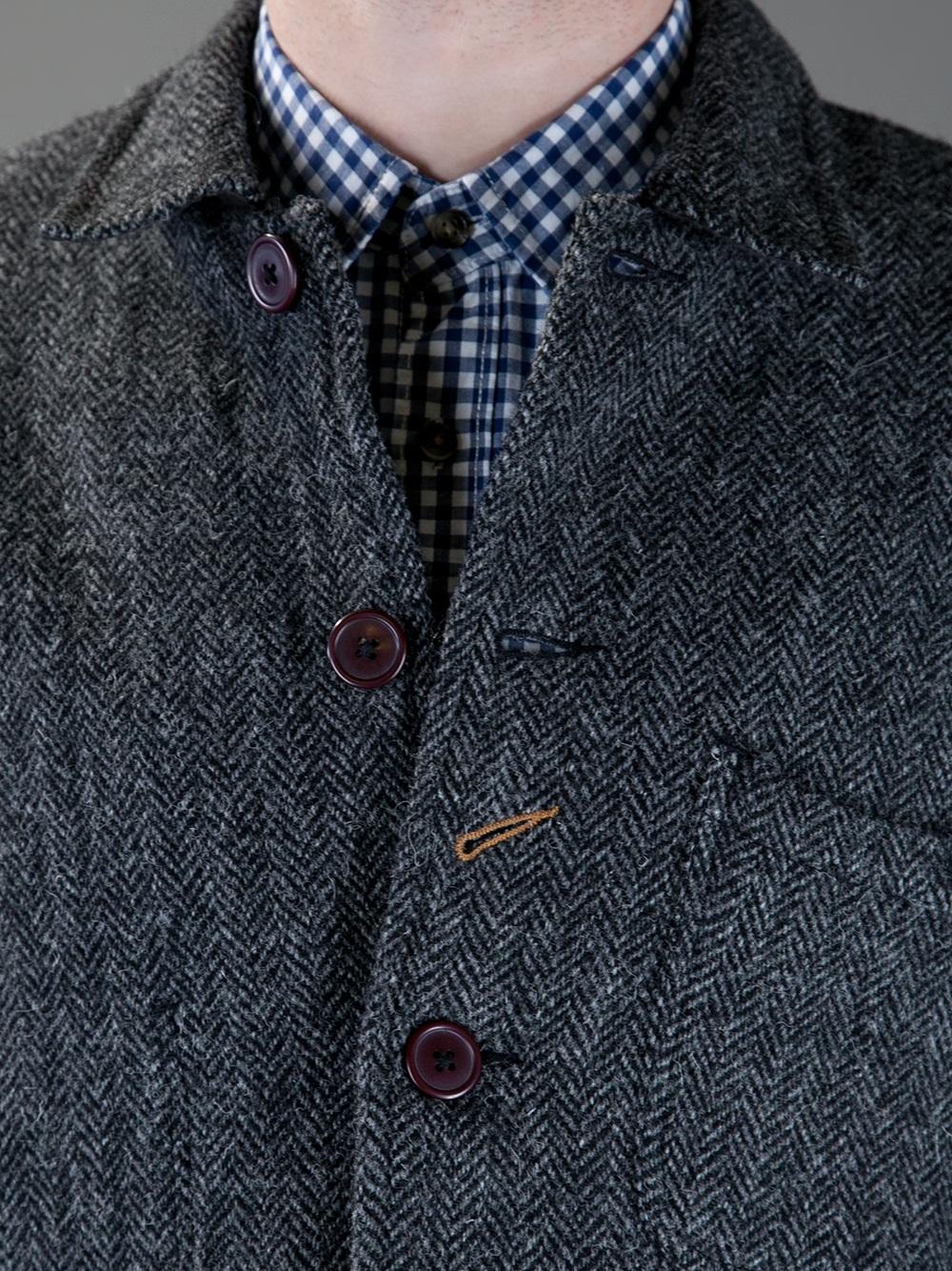 Lyst Universal Works Bakers Herringbone Jacket In Gray