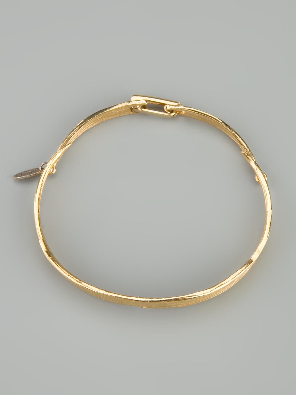 Wouters & Hendrix Bamboo Leaf bracelet - Metallic jjiuLodQa