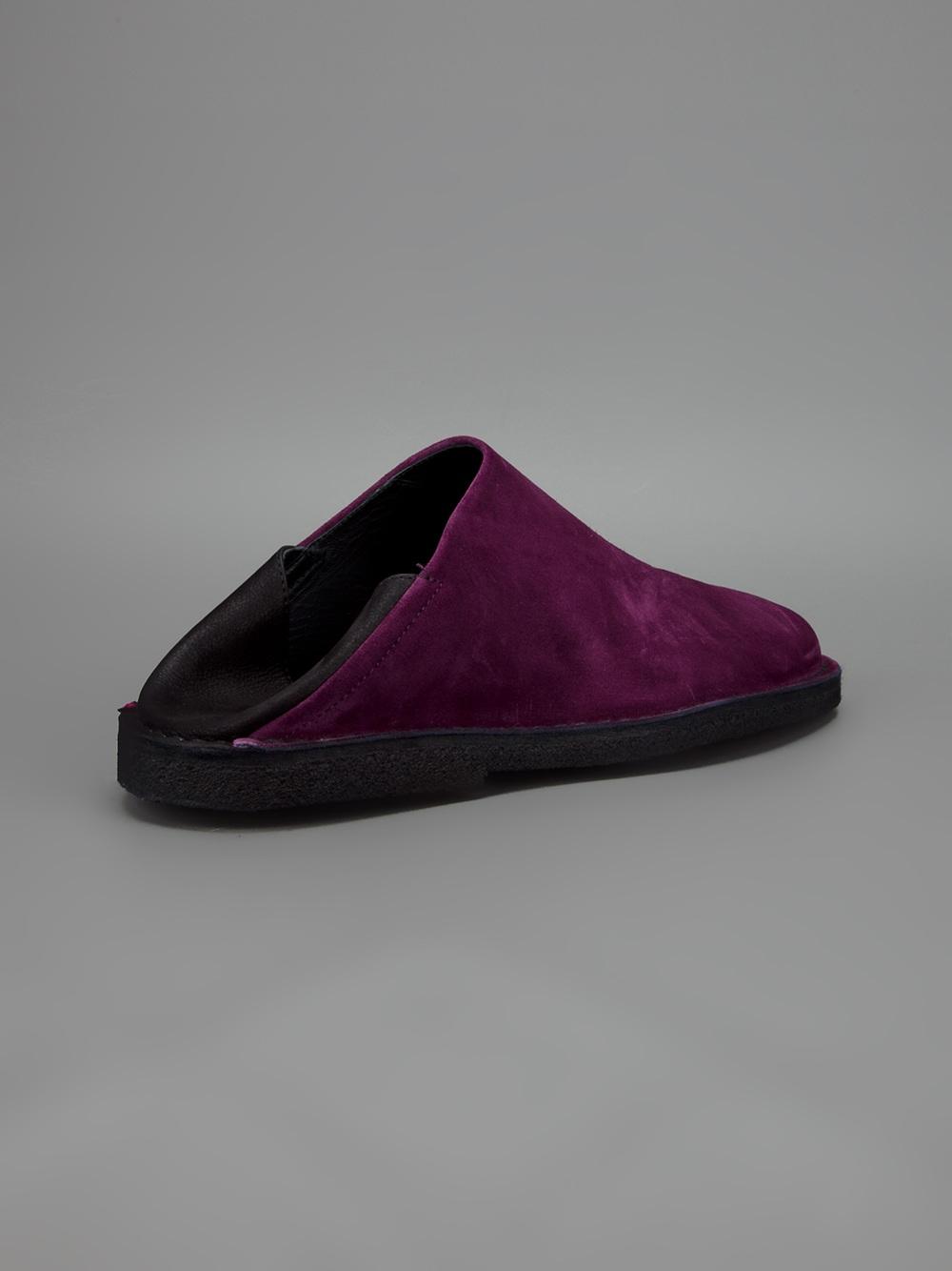 demeulemeester slip on shoe in purple for lyst