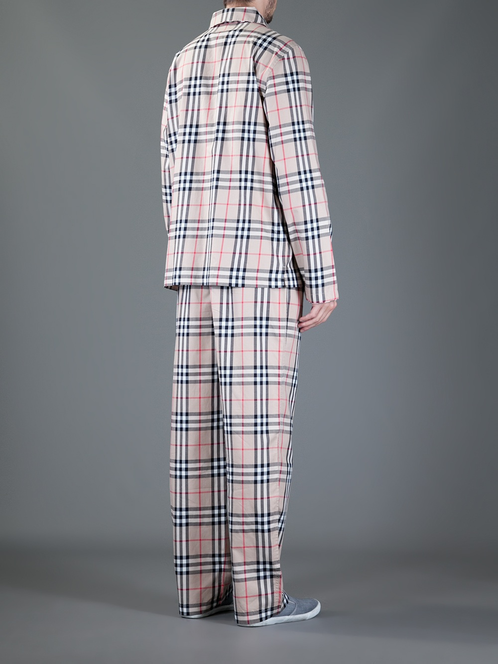Burberry Check Cotton Pyjama Trousers in Brown for Men - Lyst