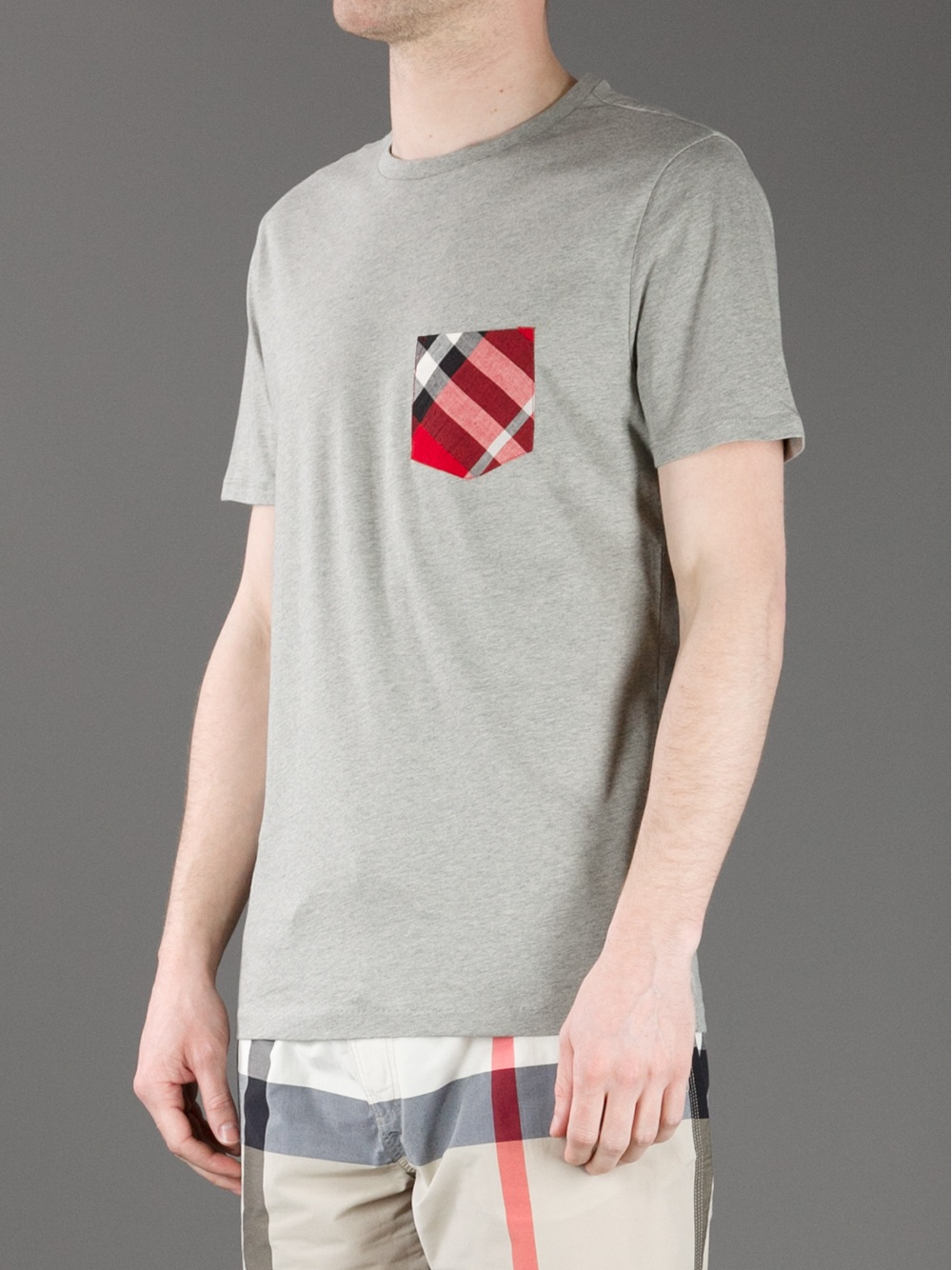 Burberry Brit Pocket T Shirt in Gray for Men Lyst