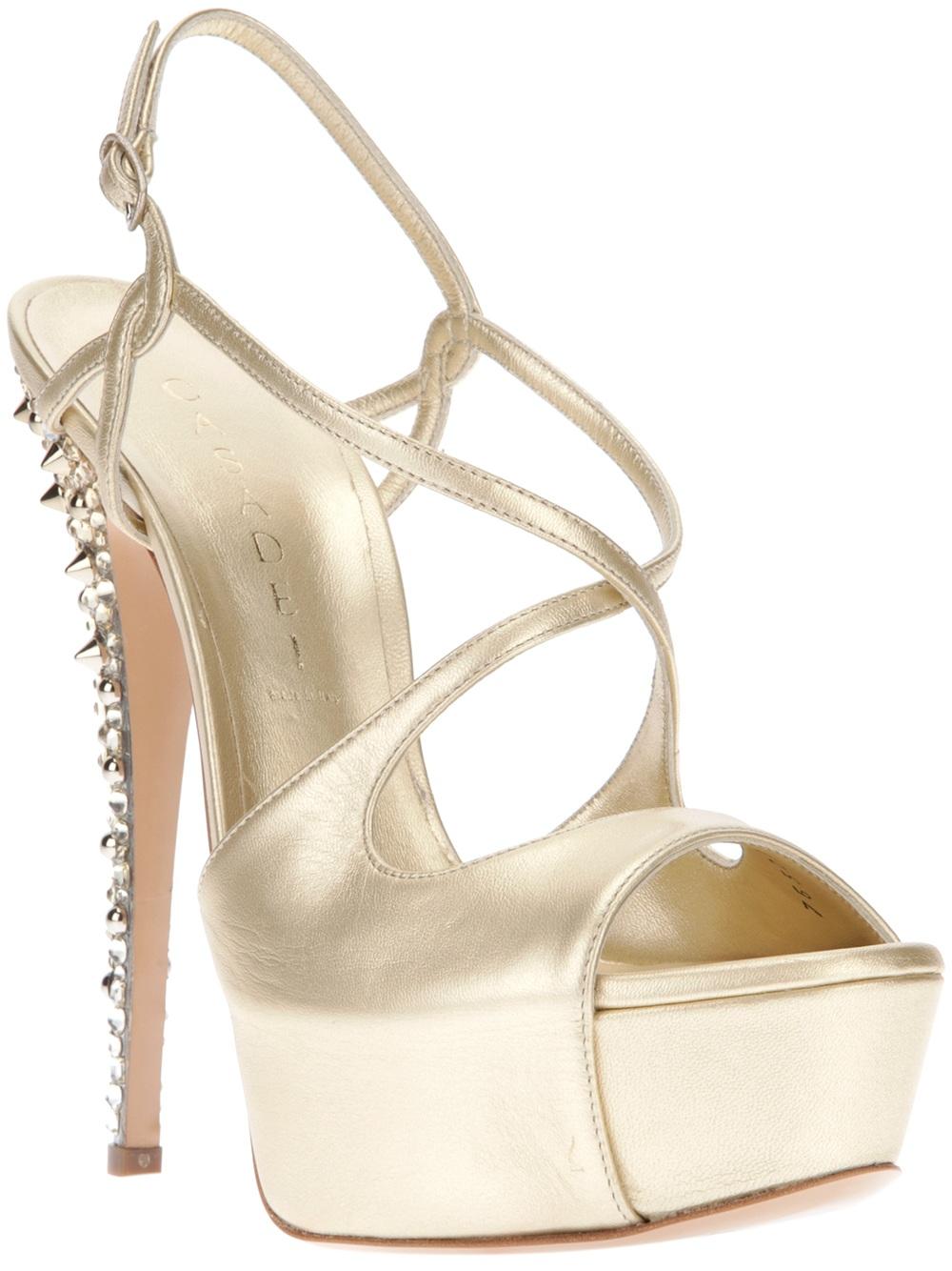 embellished platform sandals - Metallic Casadei Zg3YdyA