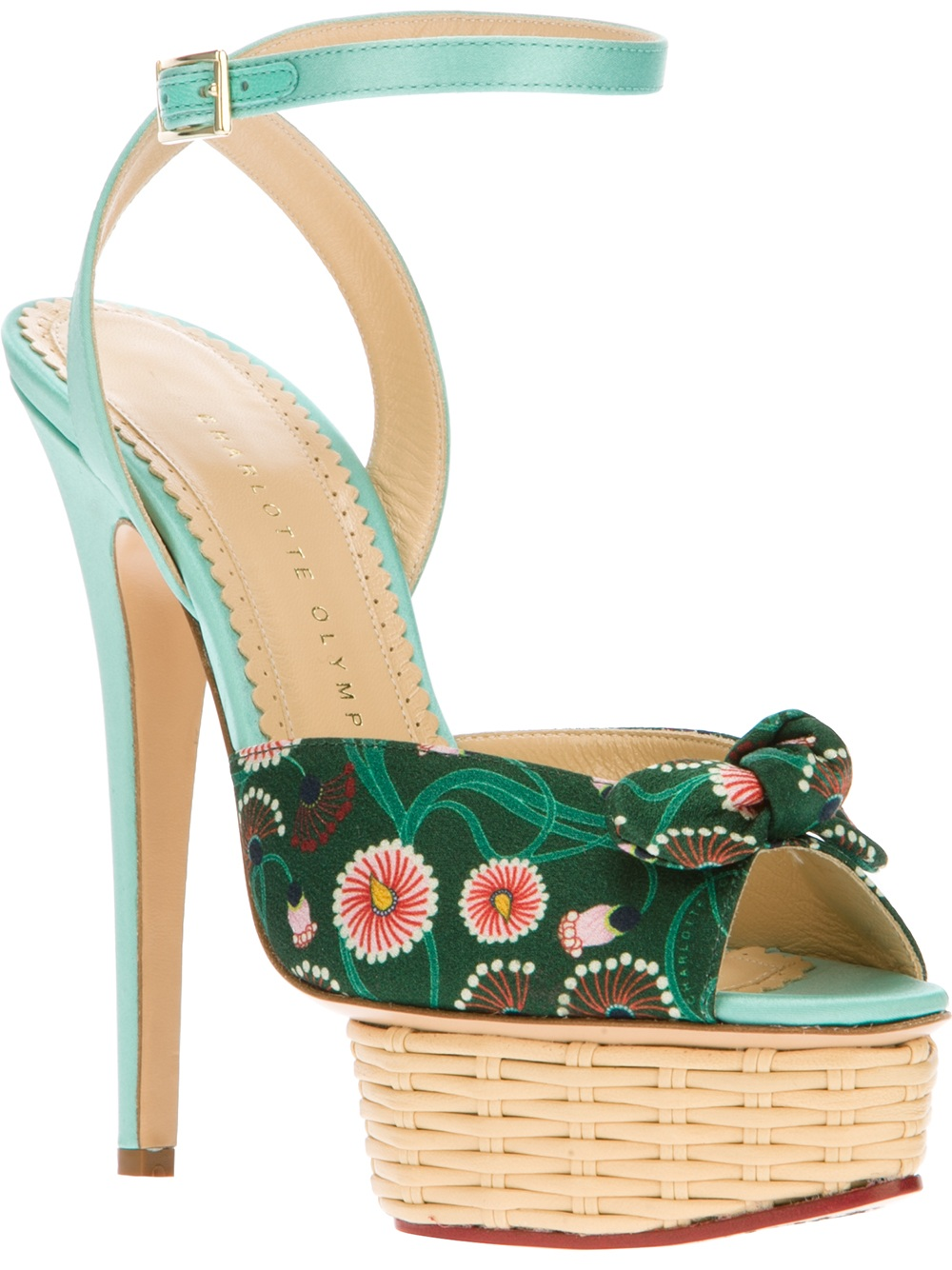 Lyst Charlotte Olympia Serena Sandal In Green