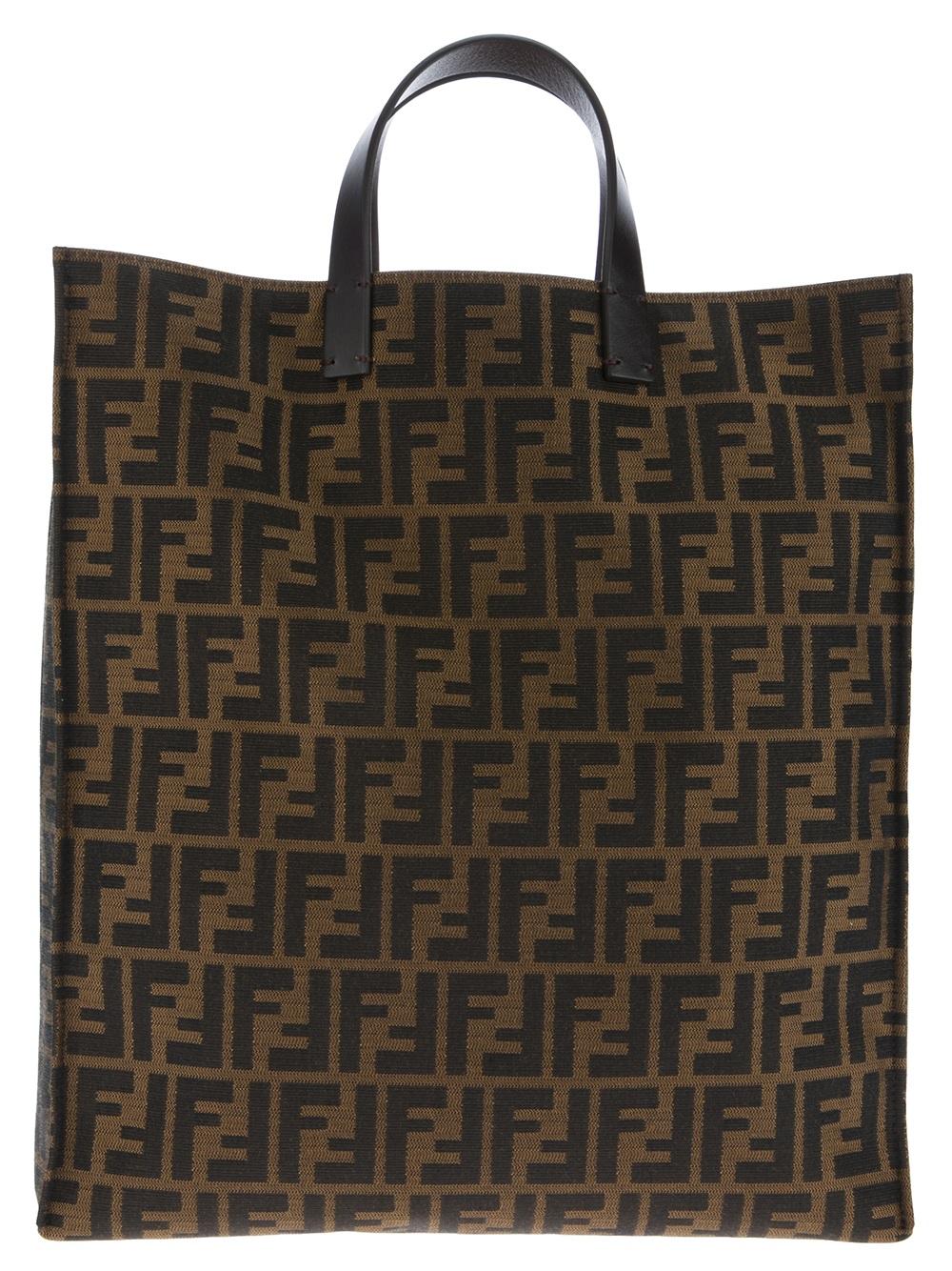 f14ff32718 Lyst - Fendi Monogram Shopper Bag in Brown